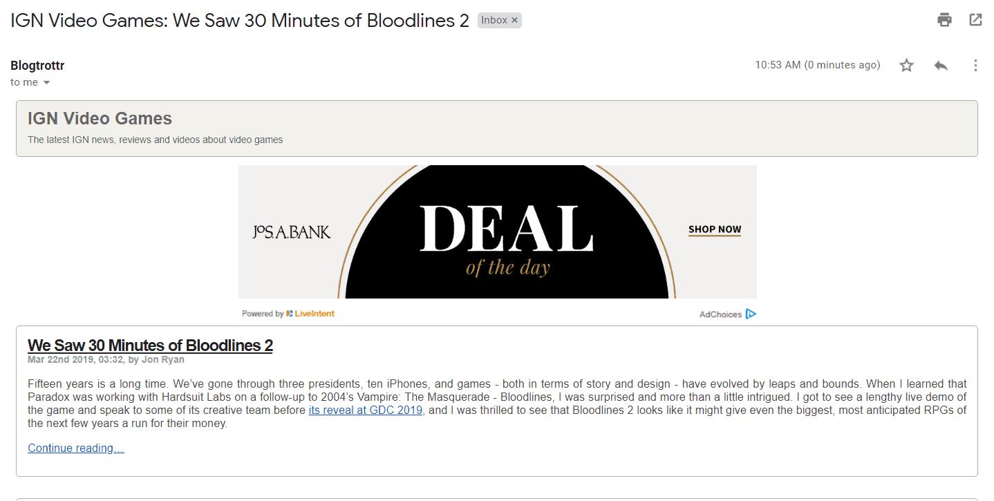 Pubblicità RSS su come fare soldi con il blog.