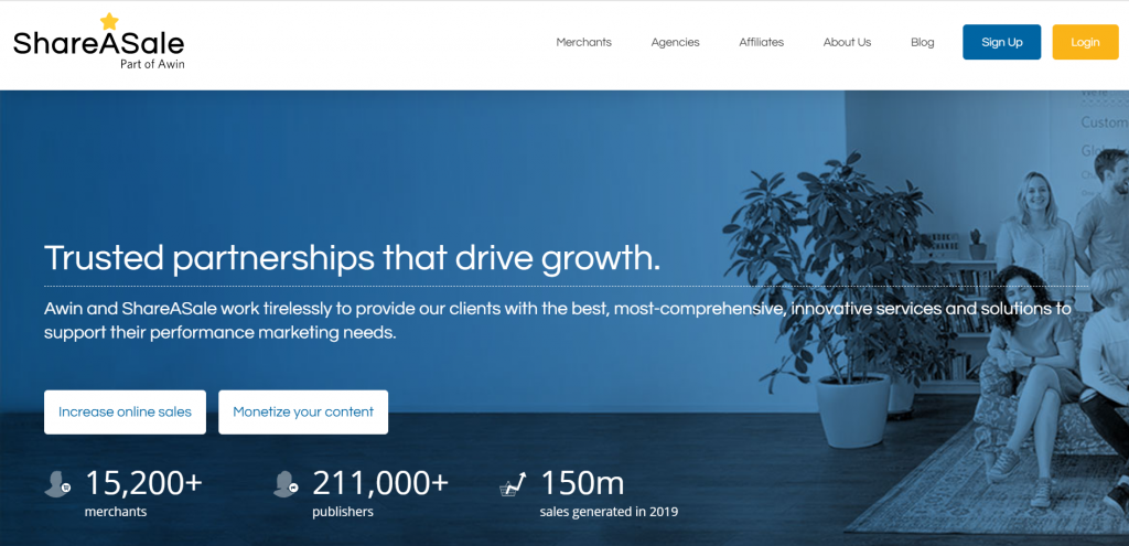 share a sale landing page