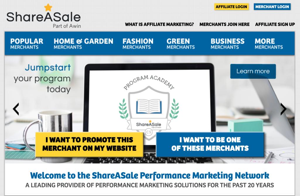shareasale homepage