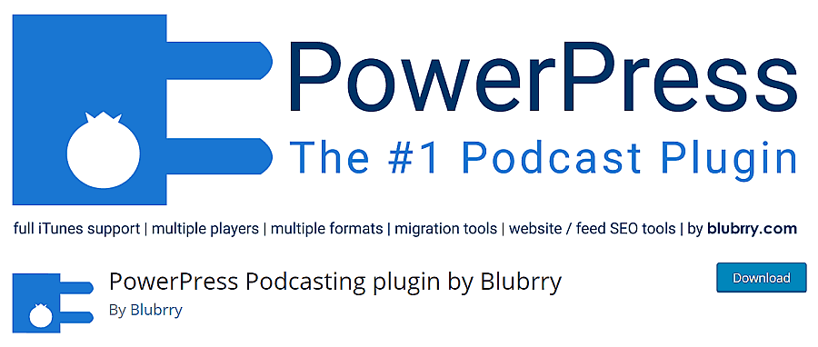 powerpress podcast wordpress plugin