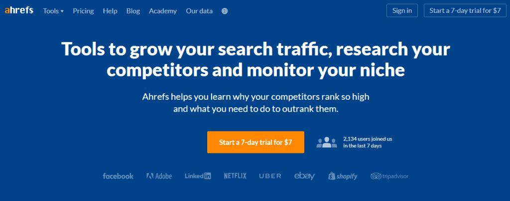 Trang web của Ahrefs