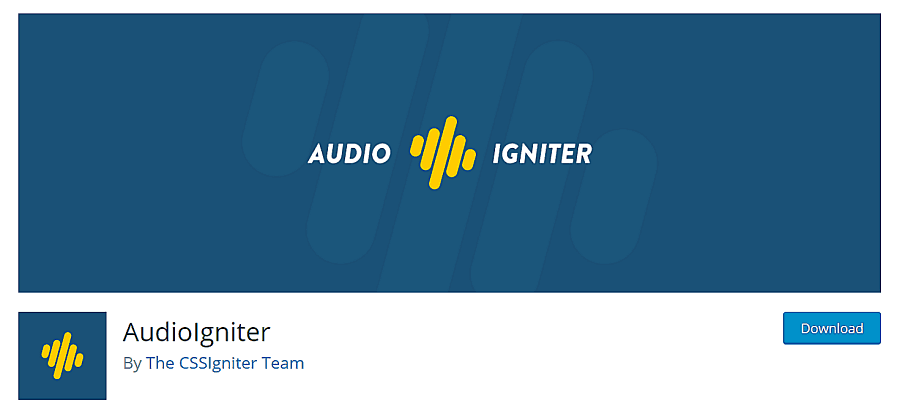 audio igniter wordpress plugin