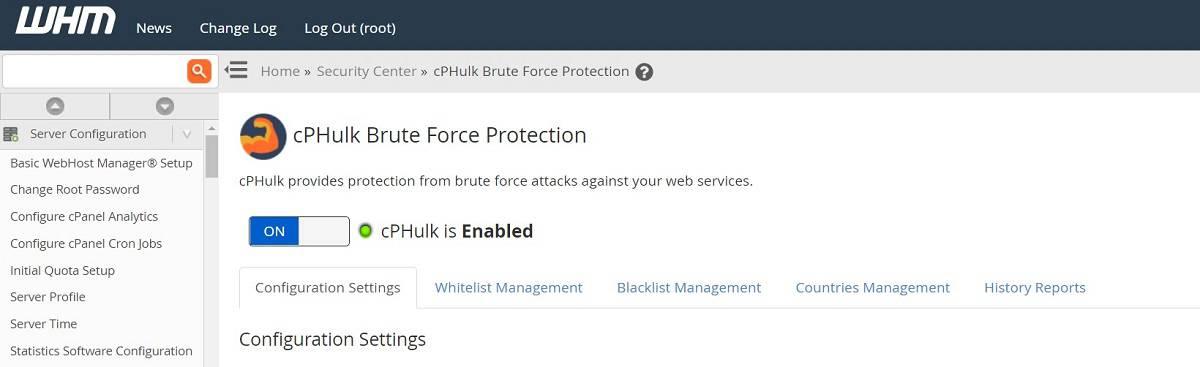 bảo vệ cPHulk cho tất cả các cPanels