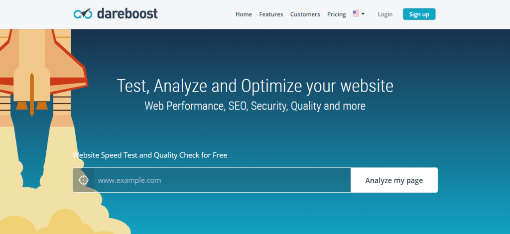 dareboost speed test tool