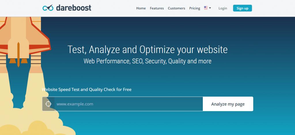 website speed test dareboost tool