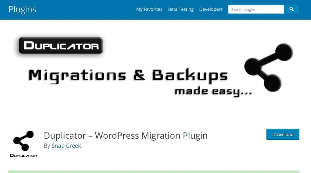 Dpulicator wordpress plugin page