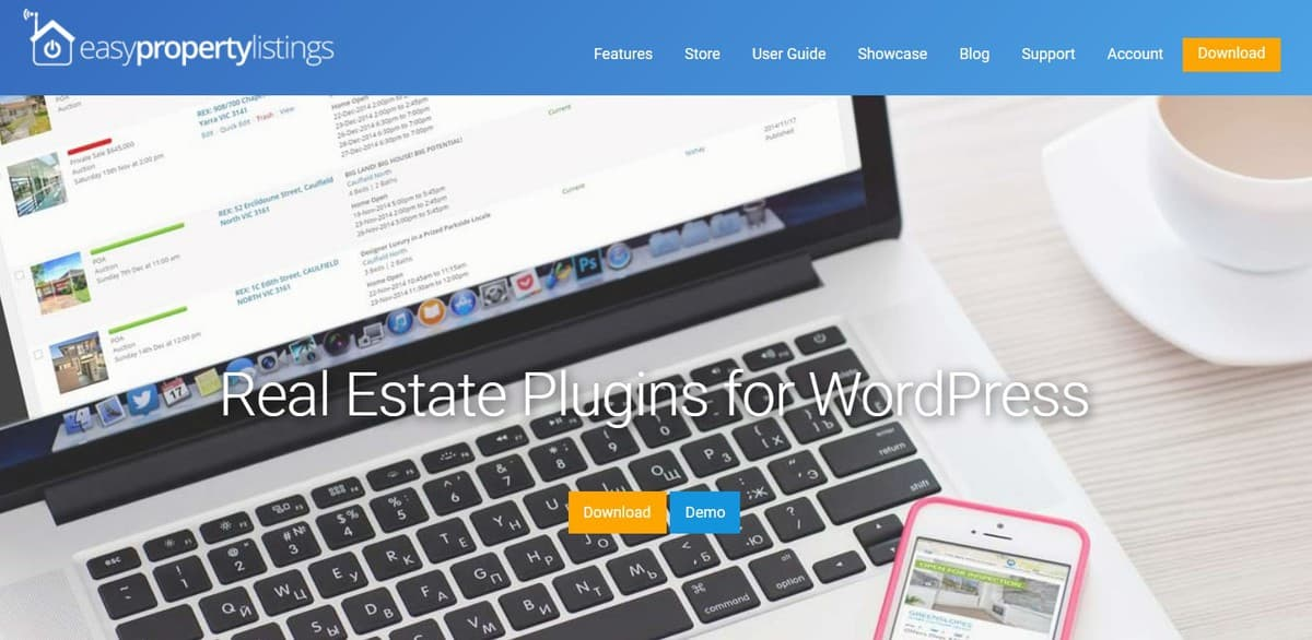 easy property listing WordPress Plugin's homepage
