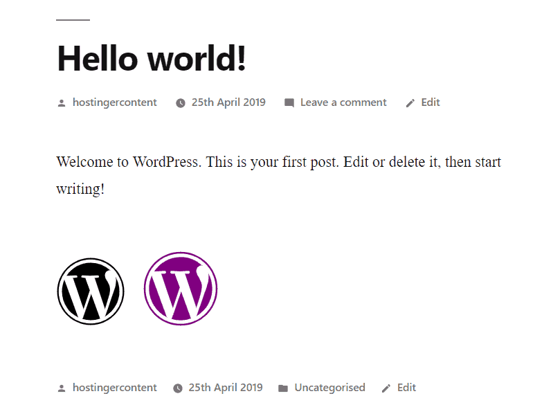 The preview of the customized WordPress icon fonts from Font Awesome