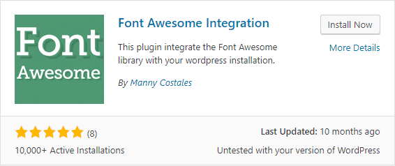 plugin Font Awesome Integration
