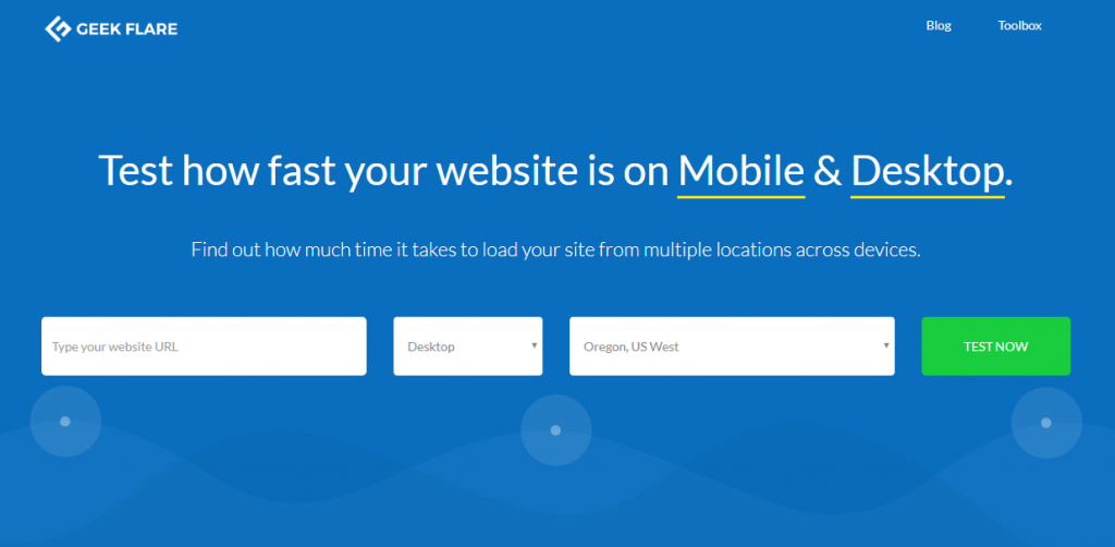 website speed test tool Geekflare