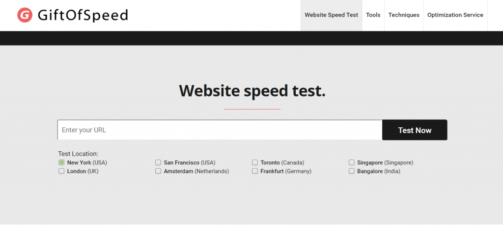 gift of speed test tool