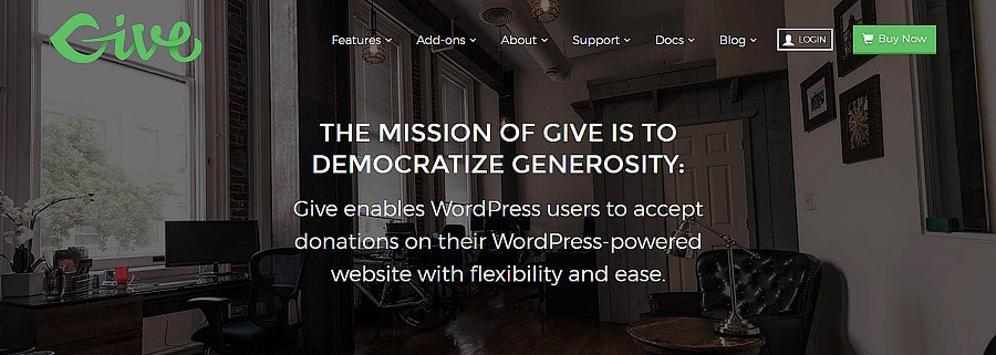 wordpress donation plugin - give