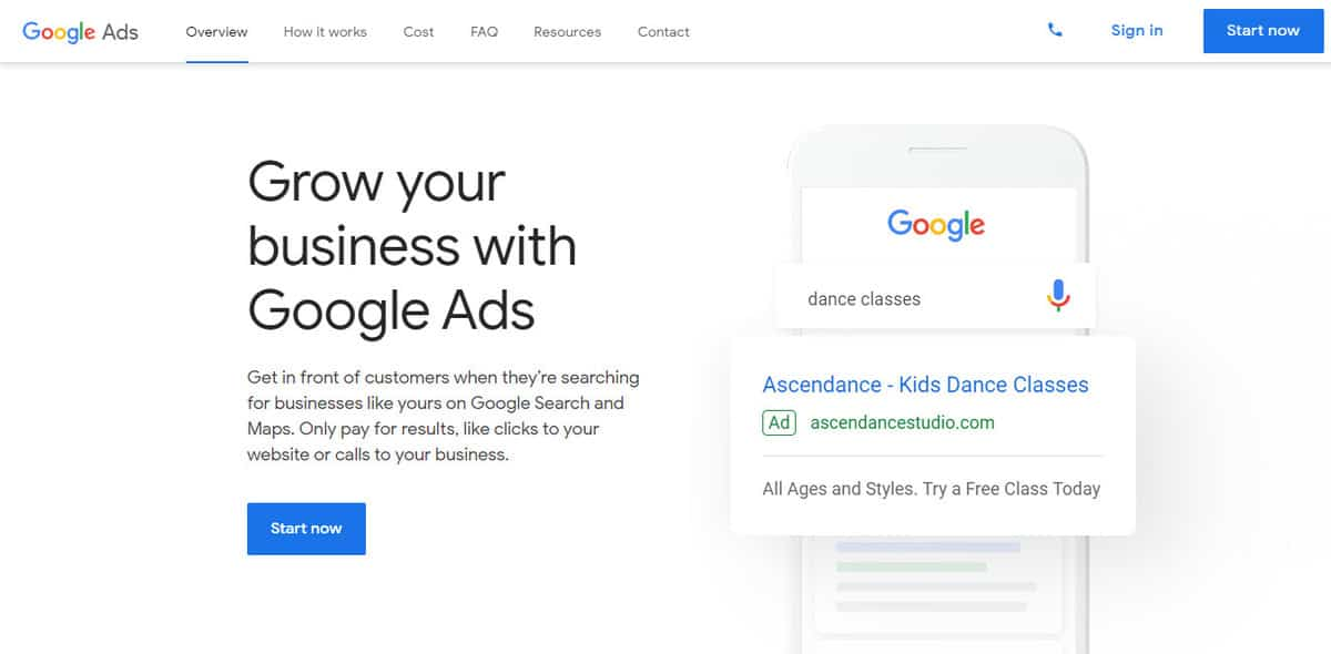Google Ads or Paid Per Click Advertising as a digital marketing strategy to grow your business