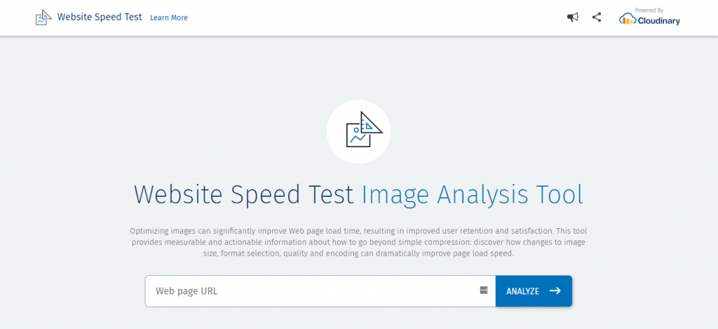công cụ kiểm tra tốc độ website imageanalysis