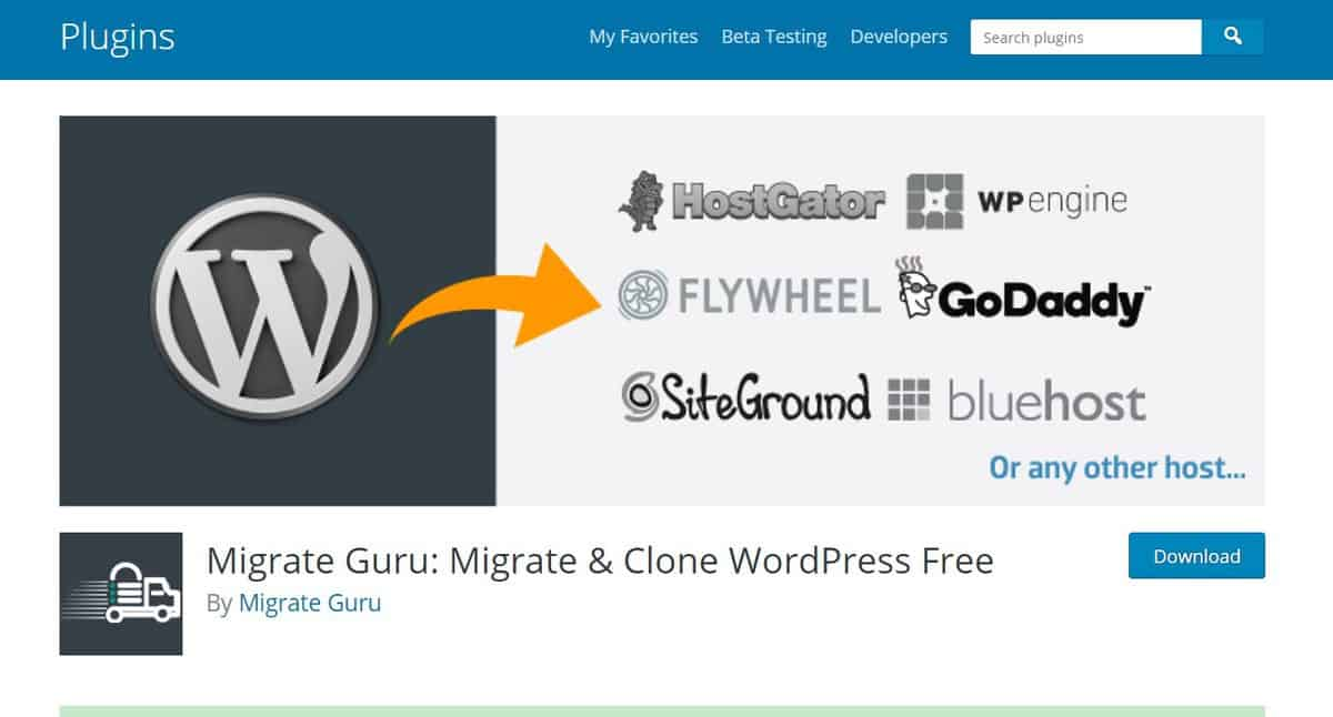 Migrate Guru Official WordPress Plugin page