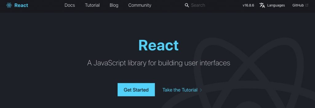 React homepage what is react