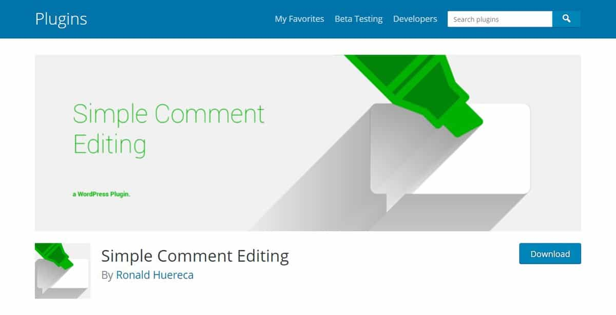 simple comment editing wordpress comment plugin