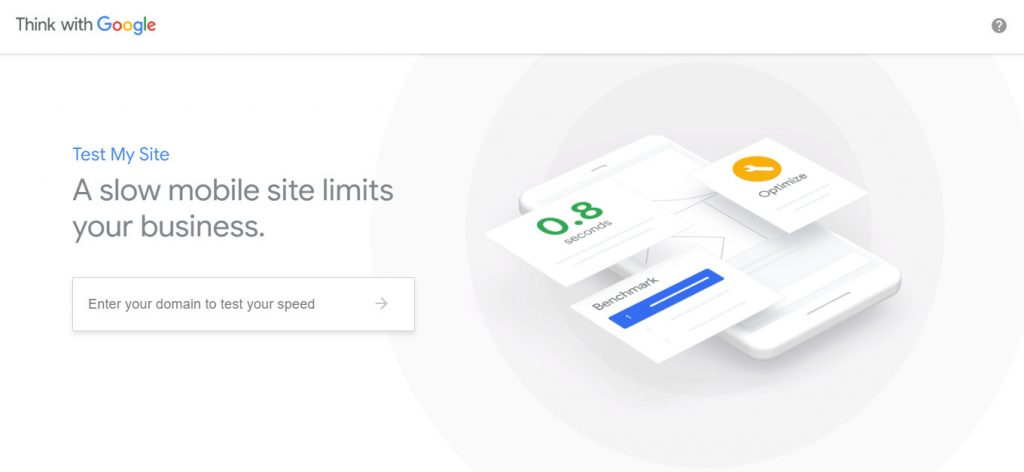 Testmysite speed test tool