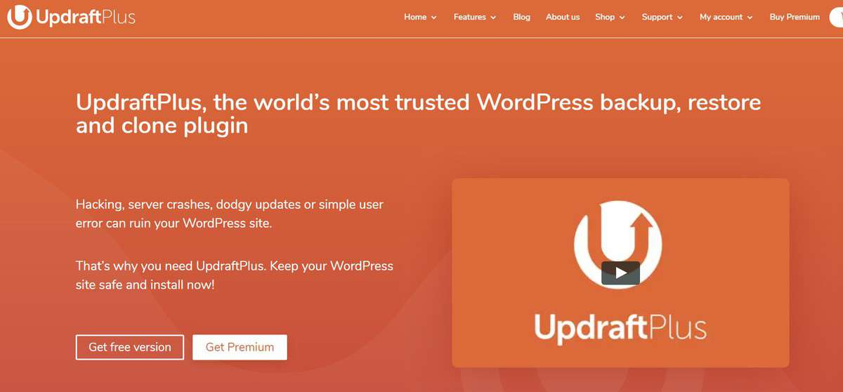 UpdraftPlus WordPress plugins official homepage