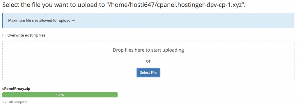upload cpanel proxy tool the the cpanel
