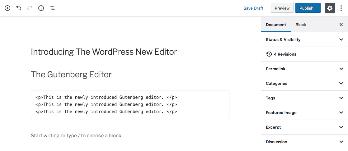 Paragraph Tags Used on WordPress Editor