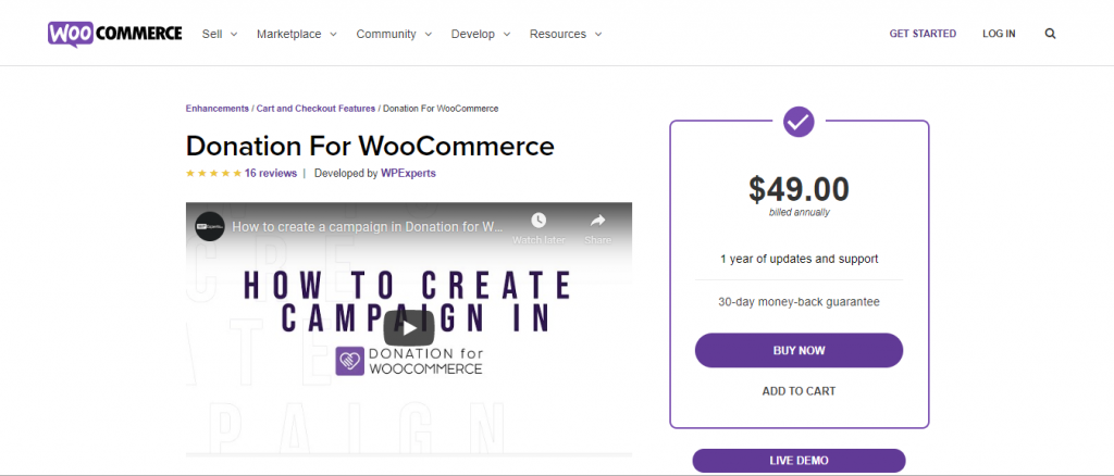 If you already have an online shop, Donation for WooCommerce is right for you