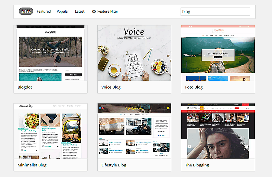 wordpress website themes