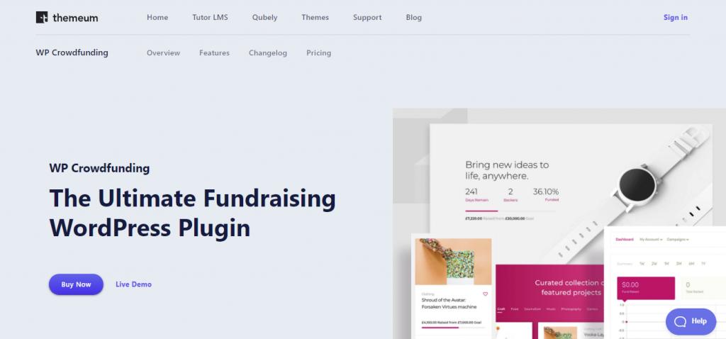 WP Crowdfunding WordPress donation plugin has native wallet system
