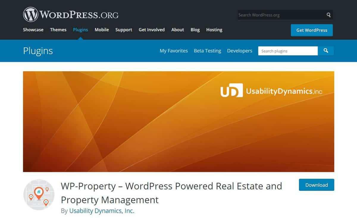 wp-property Plugin's WordPress page