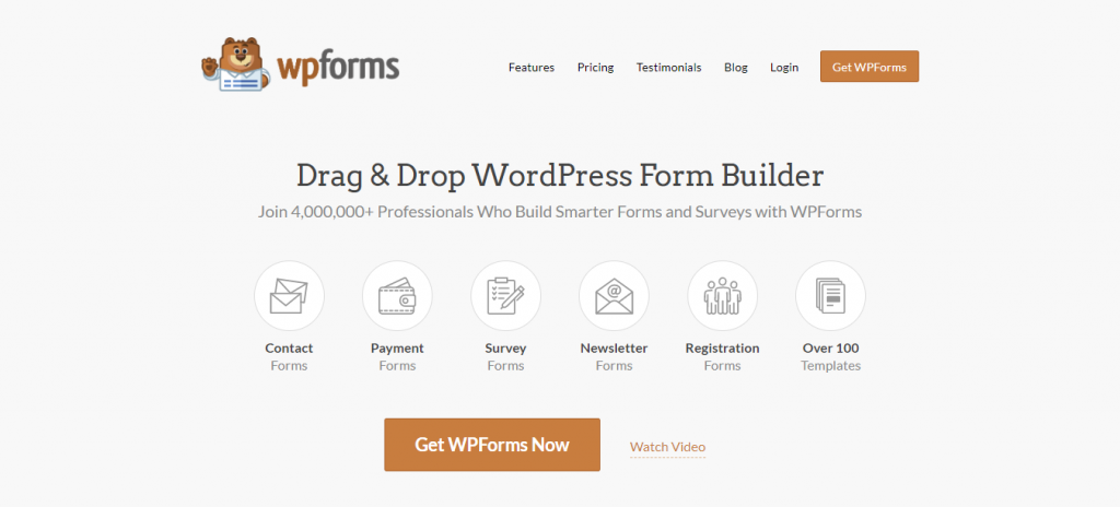 WpForms donation plugin for WordPress offers amazing drag-and-drop functionality