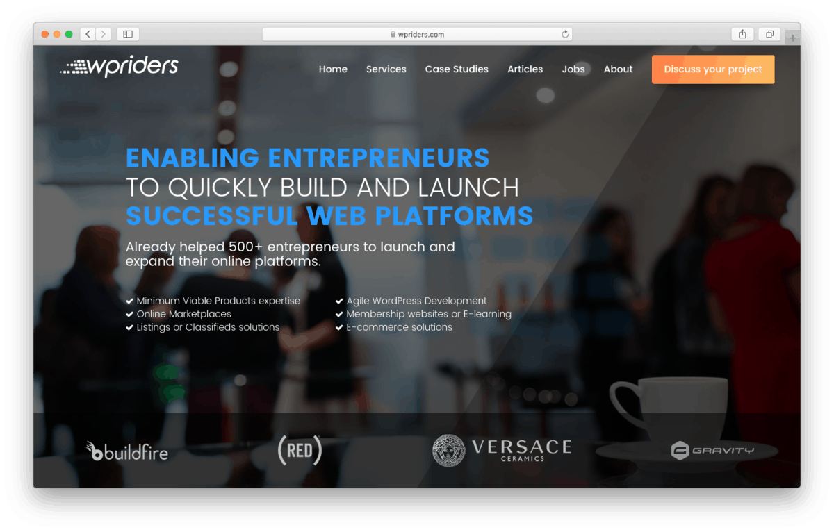 WPRiders is an Agency-Type Platform to Hire WordPress Freelancers