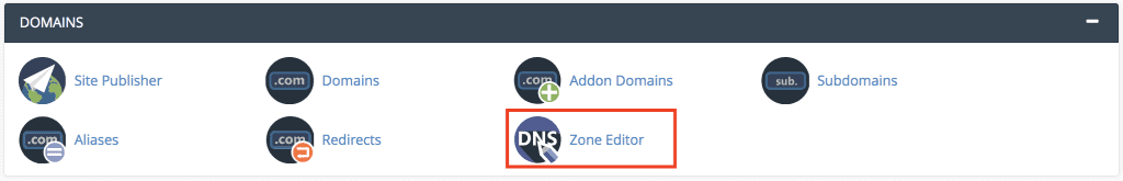zone editor tool in cpanel