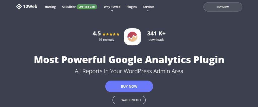 10 Web Analytics WordPress GA Plugin