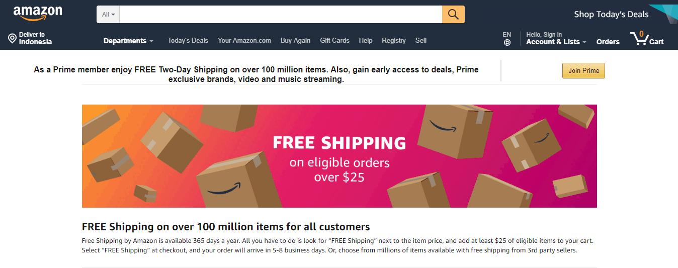 Amazon free shipping