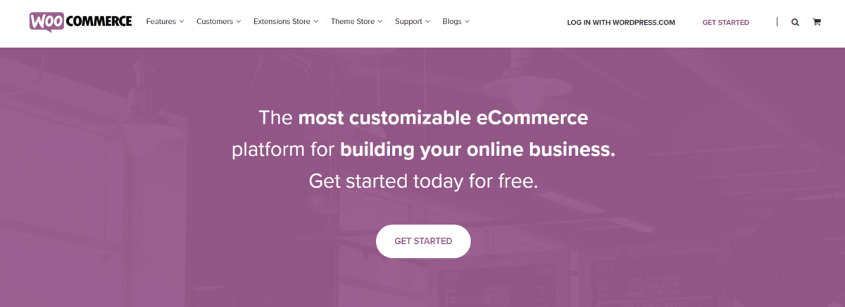 page d'accueil woocommerce
