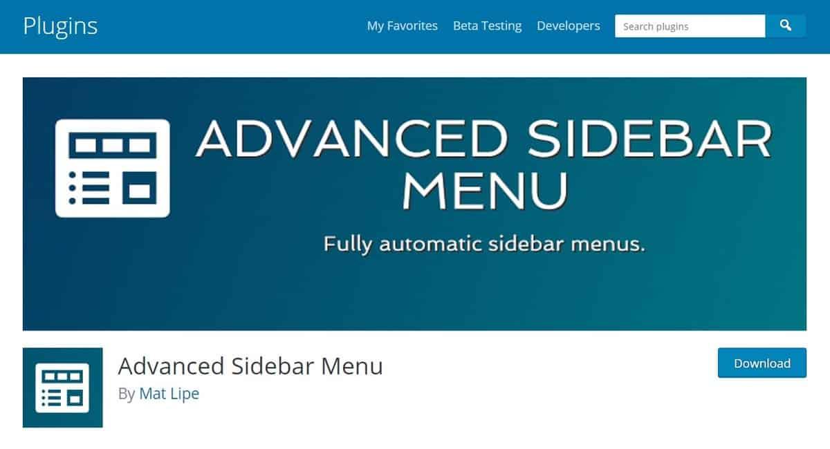 advanced sidebar menu là plugin menu WordPress tốt nhất