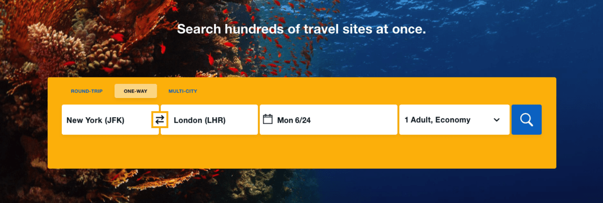Book a Flight as an Website Usability Testing Illustration