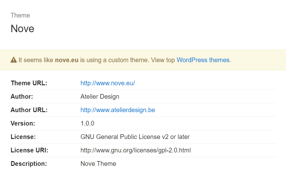 codeinwp wordpress theme detector tool
