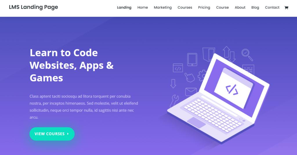 Screenshot of Divi WordPress theme