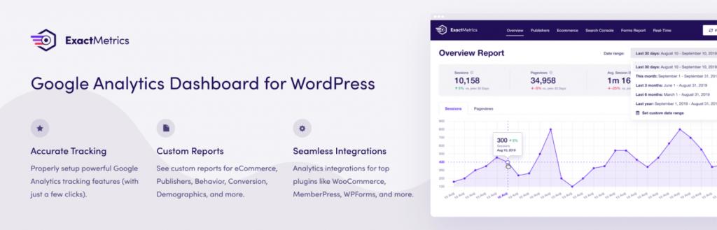 ExactMetrics WordPress GA Plugin