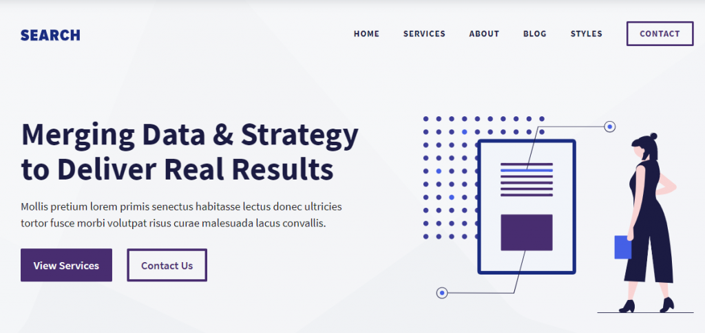 Screenshot of Generate Press WordPress theme