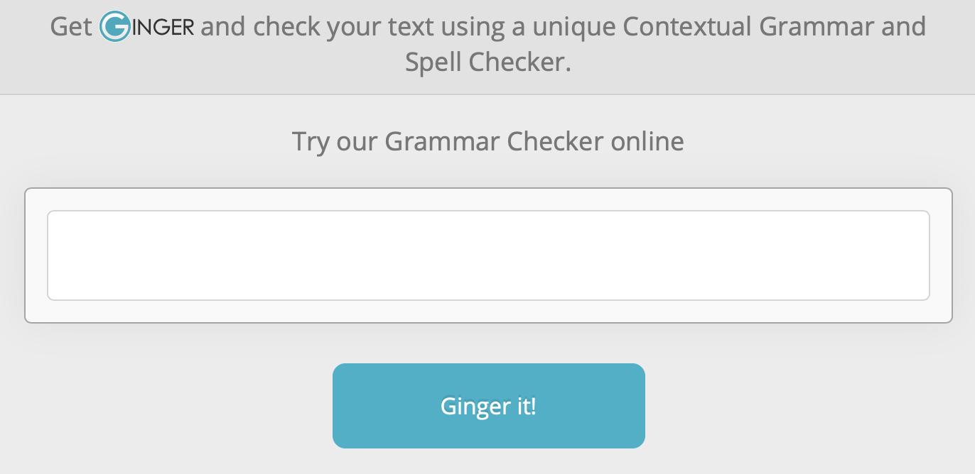 Ginger web-based grammar checker