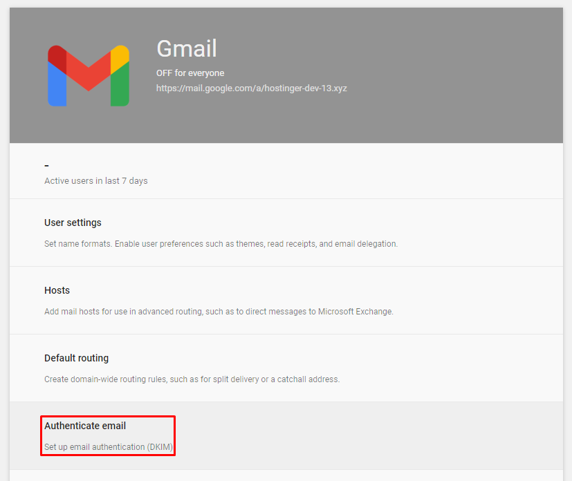 Screenshot showcasing the authenticate email button