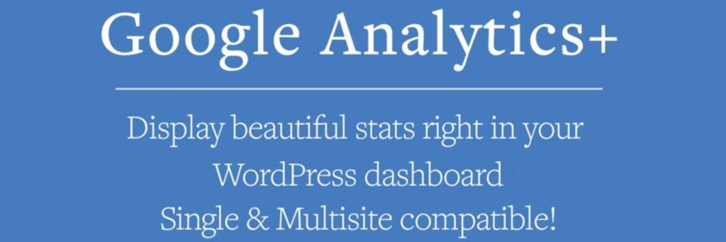 Google Analytics + WordPress plugin