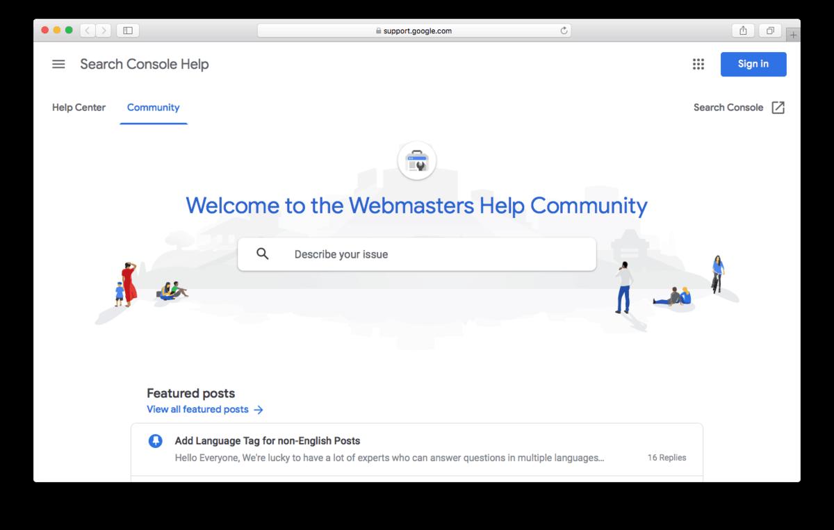 Google Webmaster Help Community