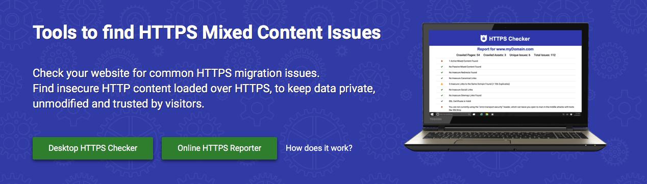 HTTPS Checker để tìm lỗi mixed content