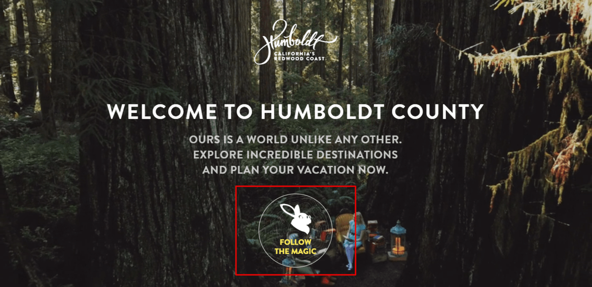 Humboldt Counrt website's call to action