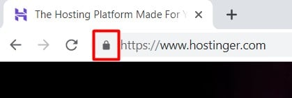 website that uses SSL and HTTPS encryptions usually have a lock icon