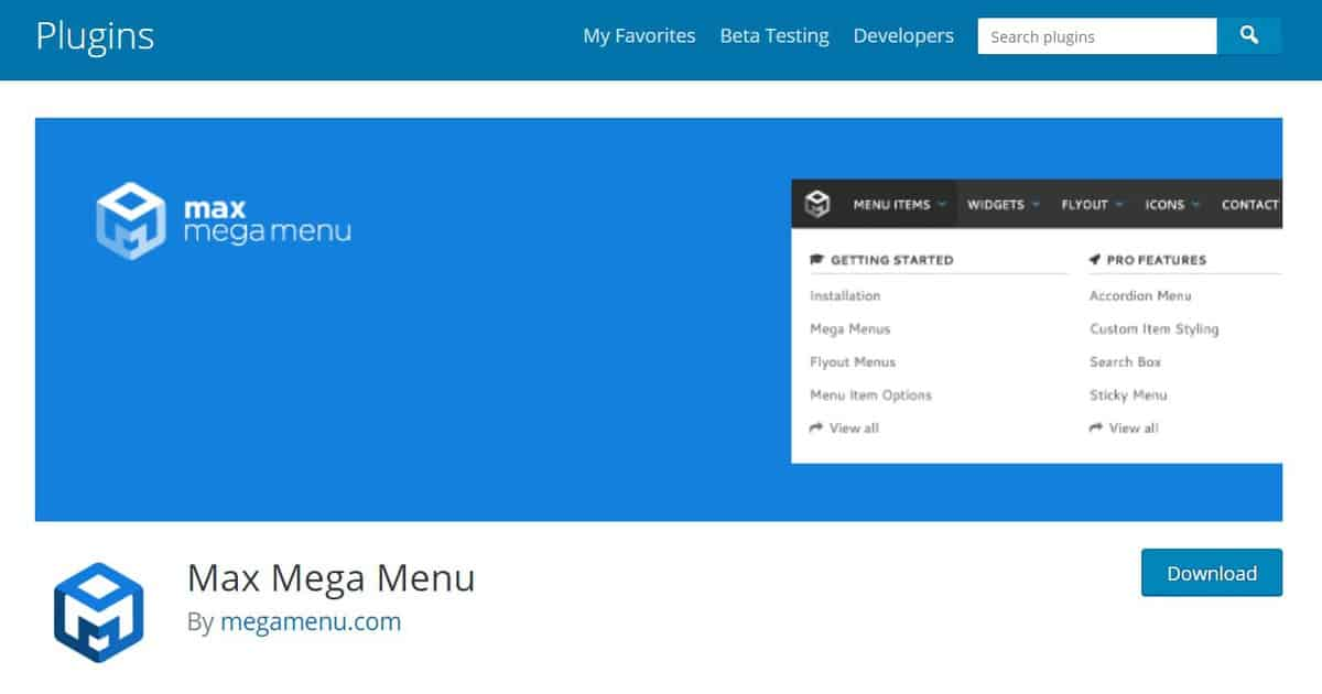 max mega menu can automatically replace the default menu of your wordpress theme