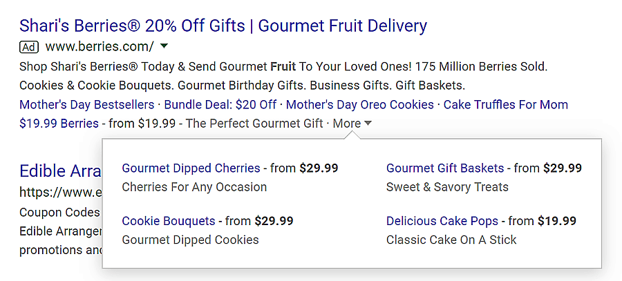 google ad offer extension